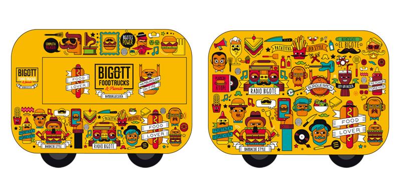 Bigott Foodtrucks, diseño de marca y foodtrucks