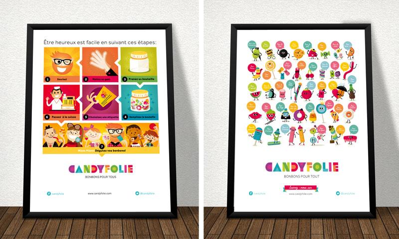 Candyfolie, branding e ilustración - tienda de golosinas en Suiza