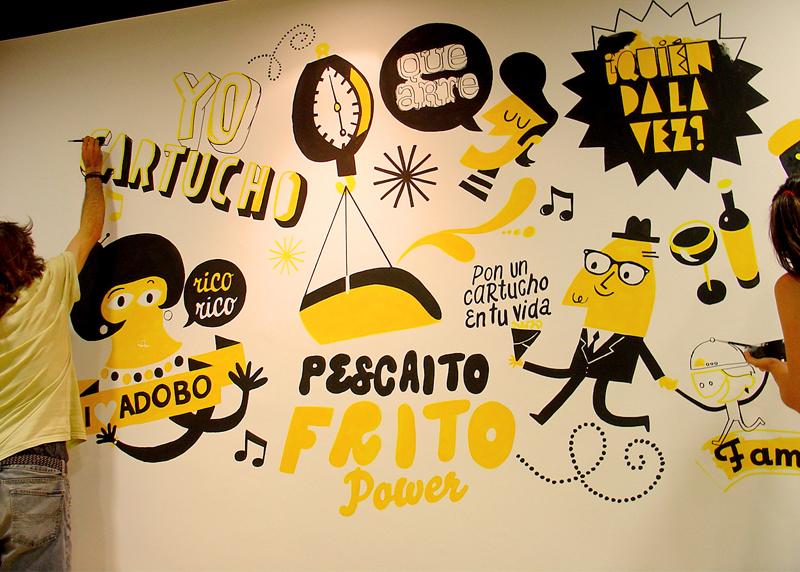 El Cartucho, imagen gráfica y diseño de mural