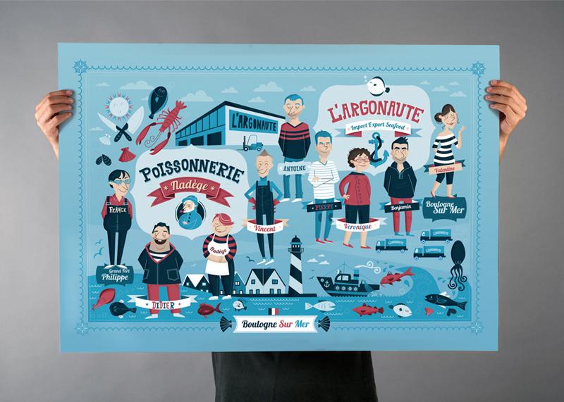 L'Argonaute, diseño de poster para regalo