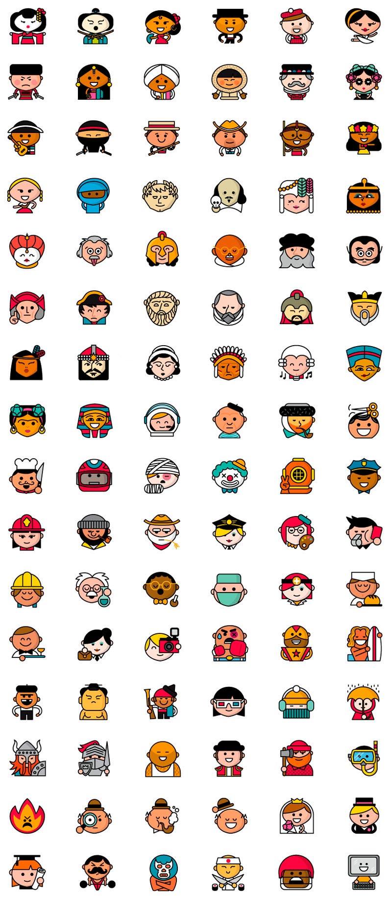 Line 1000 Emoticonos para aplicación móvil