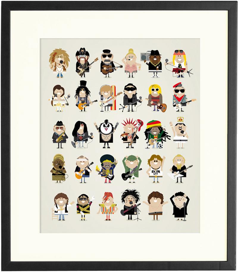 Musicon, diseño de personajes del mundo de la música