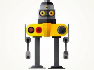Ilustración de cartel para Pitarque Robots