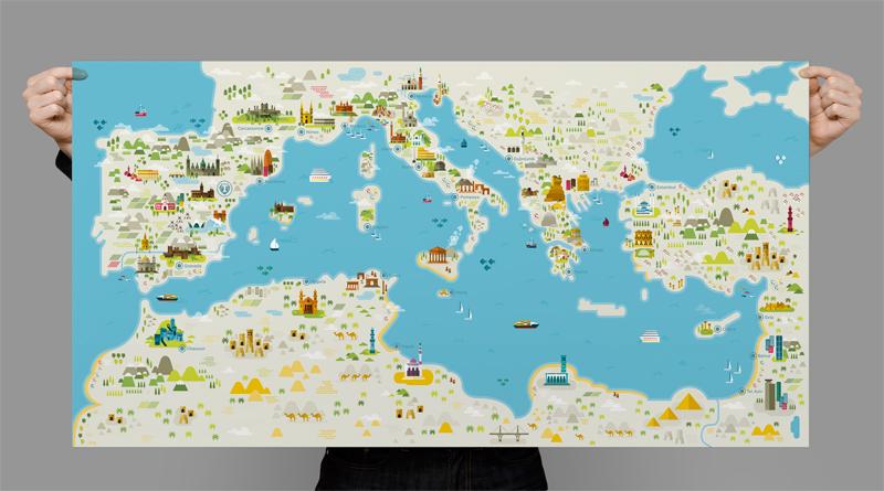 Diseño de Plano del Mediterráneo para Teruel Foods
