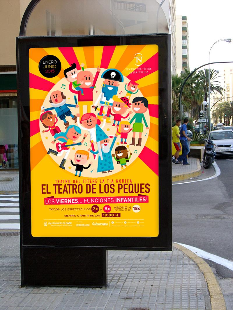 Diseño de imagen para el Teatro La Tía Norica