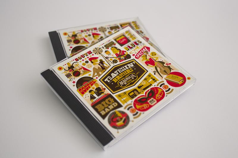 Diseño de disco para Travelling Brothers