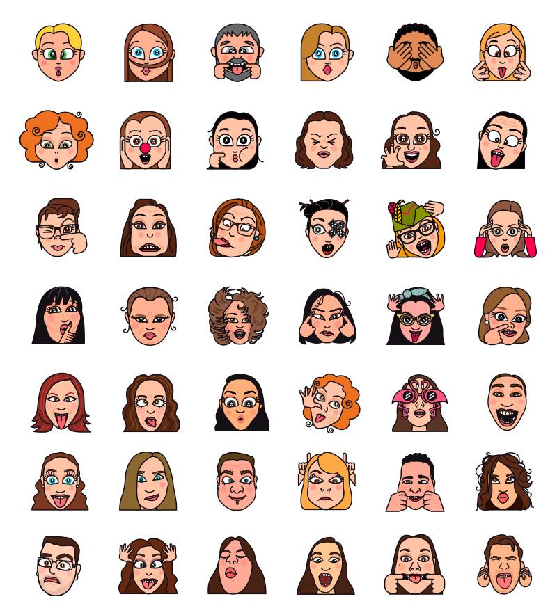 Emojis Nestlé, diseño de emoticonos