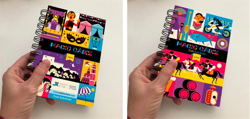 Magic Cádiz, diseño de agenda anual - Rebombo Estudio