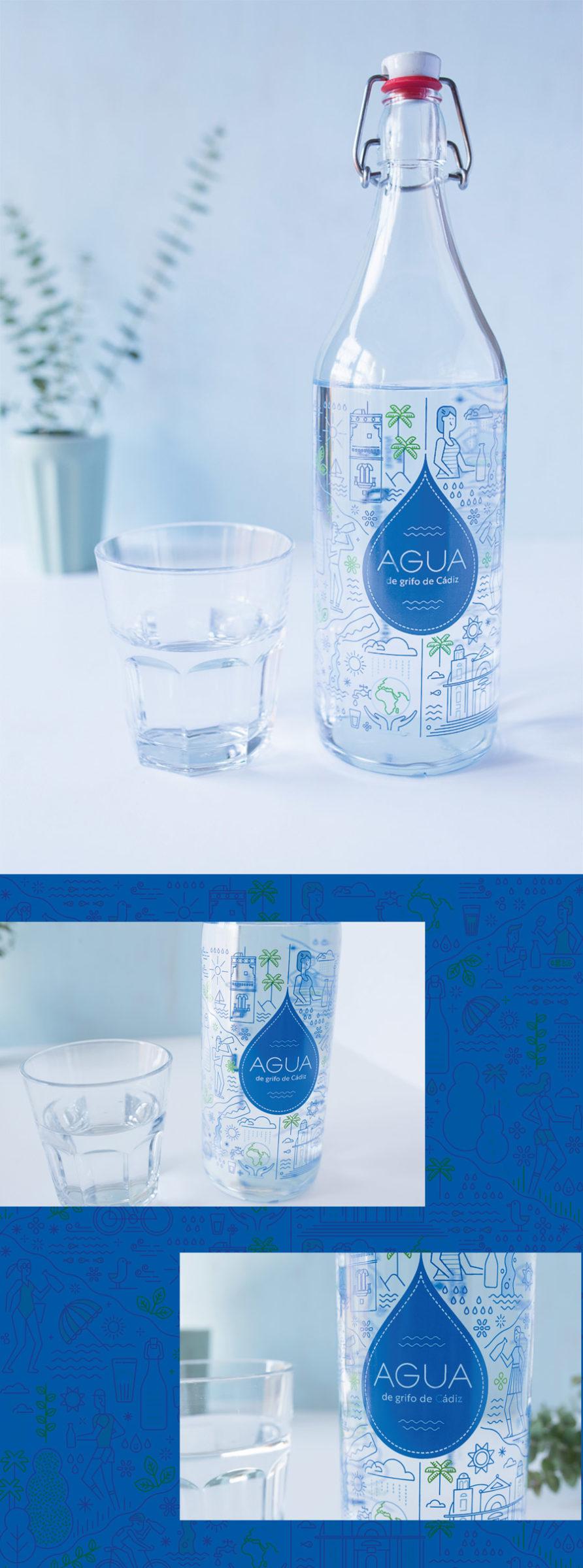 Botella agua de cádiz