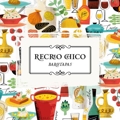 Recreo Chico - Tapeo Cádiz- Diseño e ilustración de Rebombo.