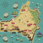 Plano antiguo de cádiz