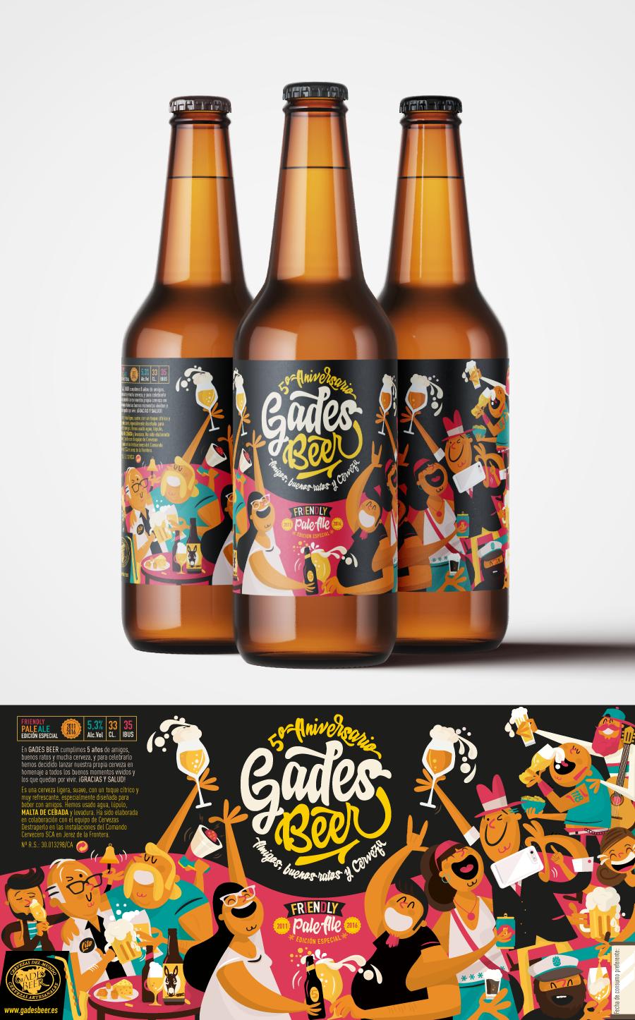 Diseño Gráfico Cerveza Cádiz