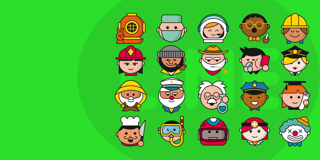 Ilustración de iconos Line