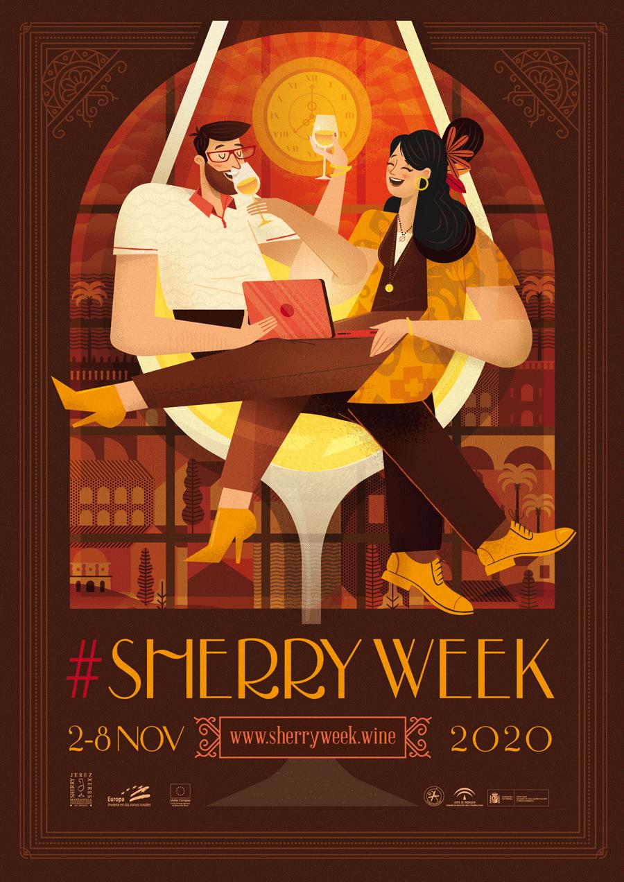 Diseño Gráfico del Cartel del Evento Sherry Week 2020
