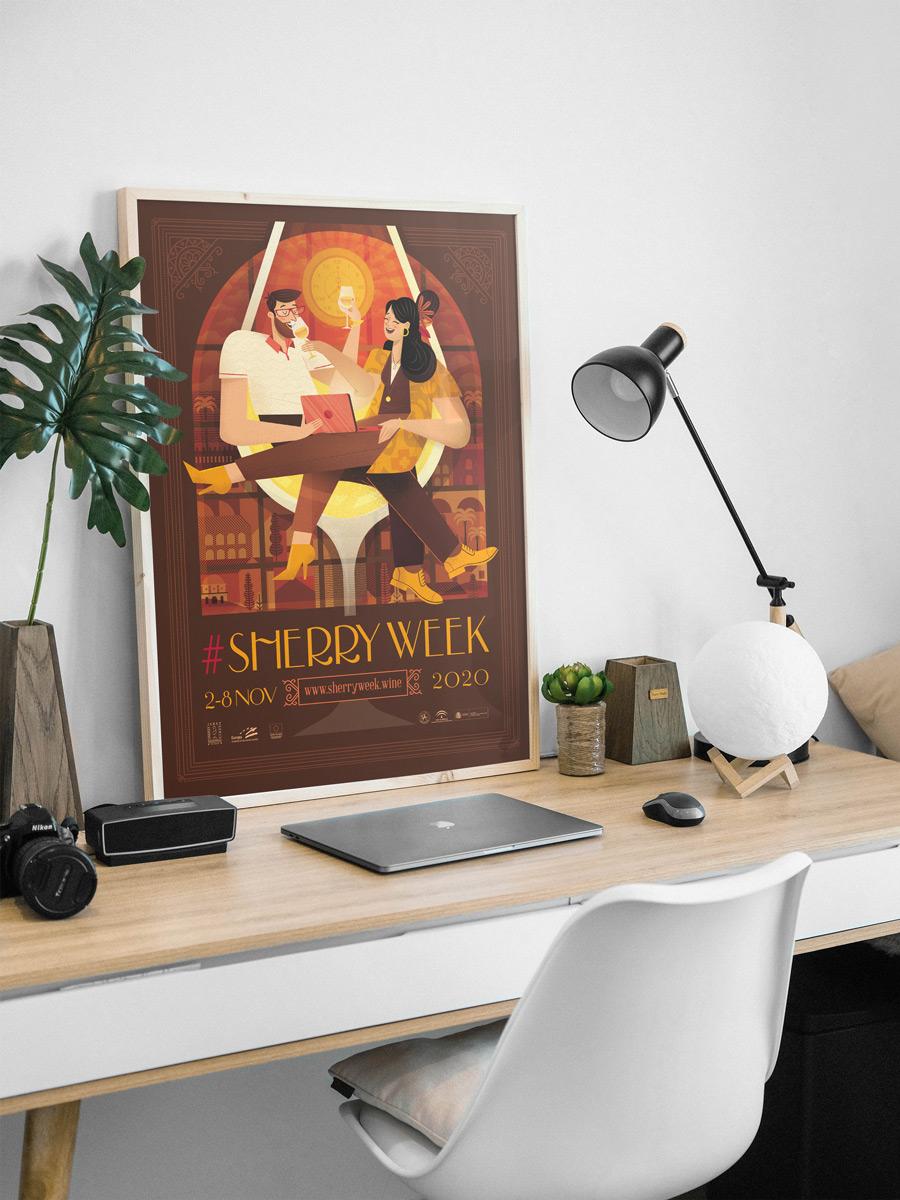 Diseño de Cartel para la Sherry Week edición 2020