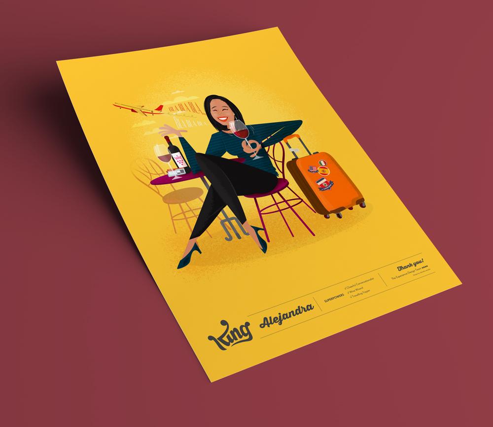 Ilustracion personaje Cádiz