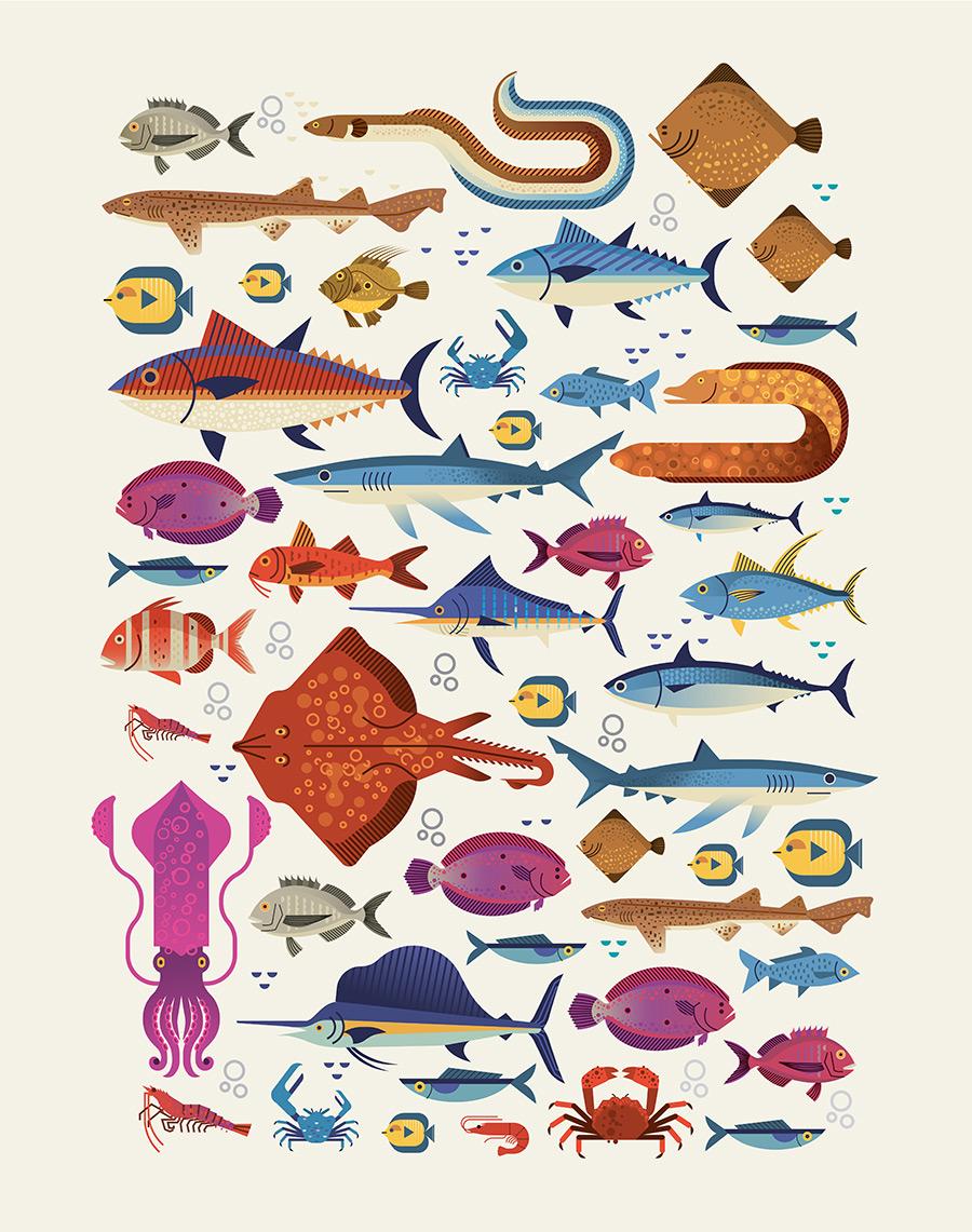 Póster Ilustraciones Teatro de la Mar