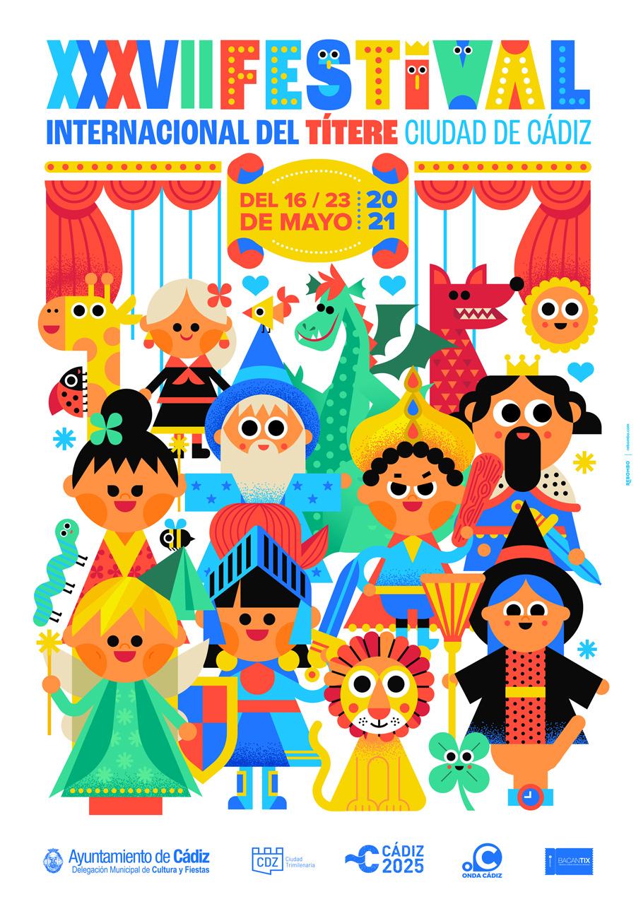 Cartel oficial festival del títere de cádiz 2021